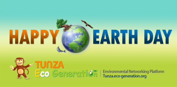 Happy Earth Day Banner Happy Earth Day Tunza Eco