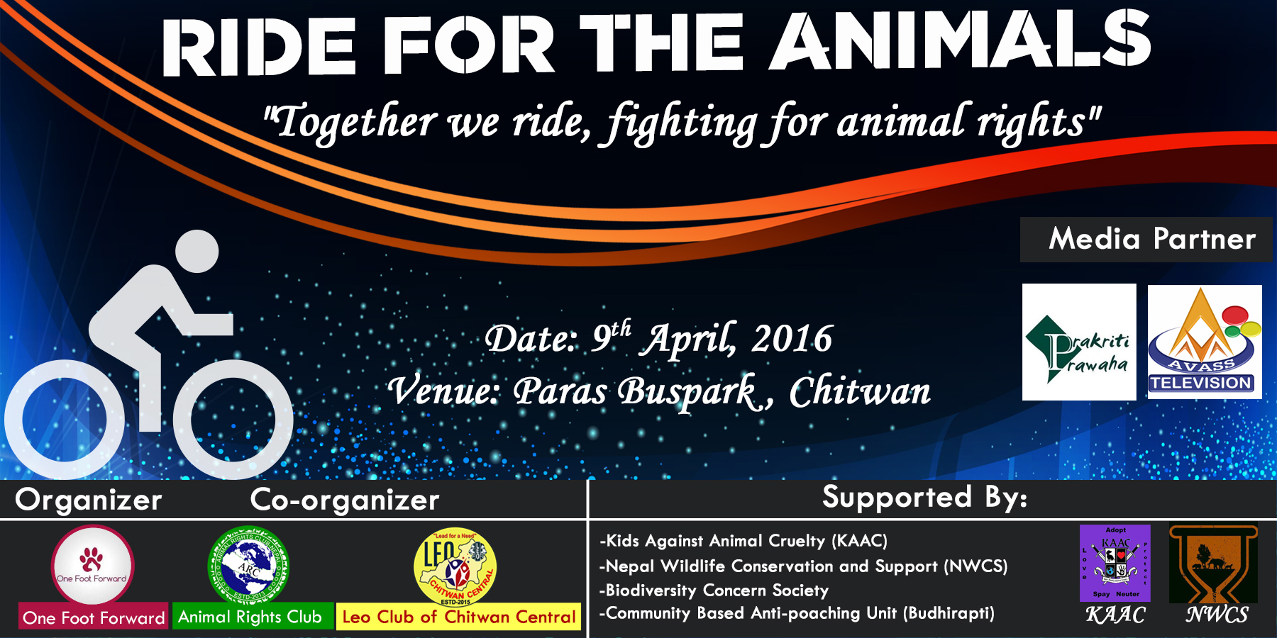 youths for wildlife conservation ride for the animal e gen ambassador rahul acharya