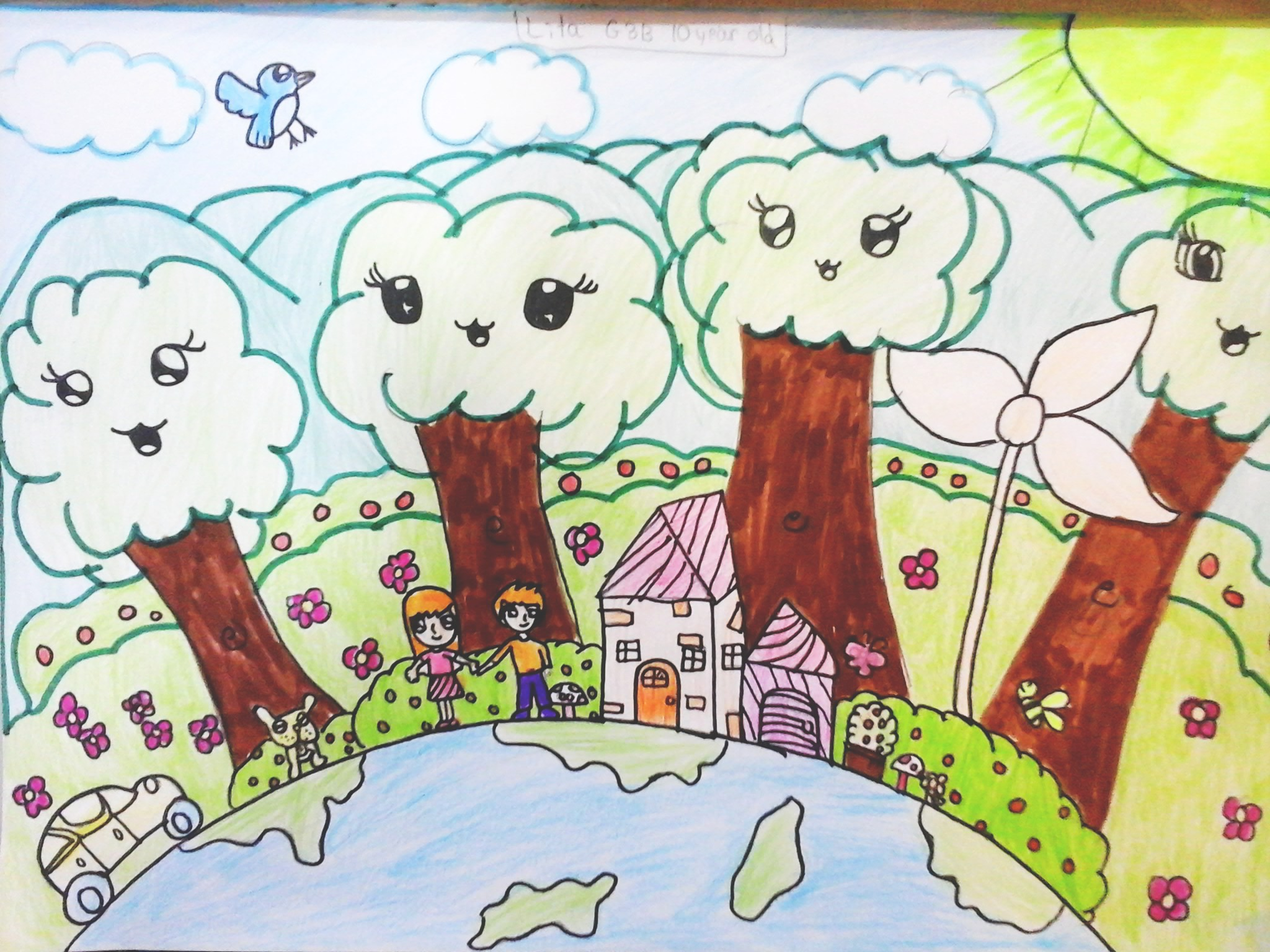 save our mother earth drawing wwwimgkidcom the image