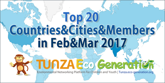 Top 30 countries and cities in Feb&Mar 2017