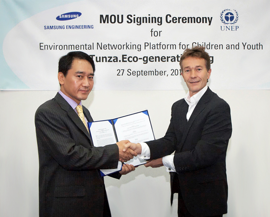 MOU Signing ceremony between Samsung Engineering and UNEP in Bandung, Indonesia