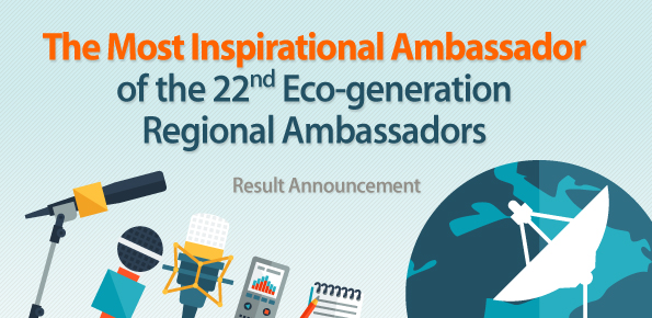 The Most Inspirational ambassador of the 22nd regional ambassadors result annoucement