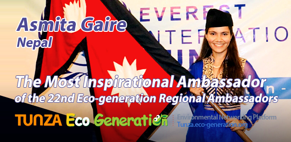Most Inspirational Ambassador of the 22nd Regional Ambassadors Asmita Gaire