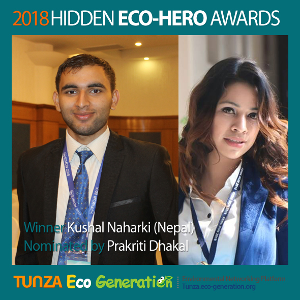 2018 Hidden Eco-Hero Awards Winner - Kushal