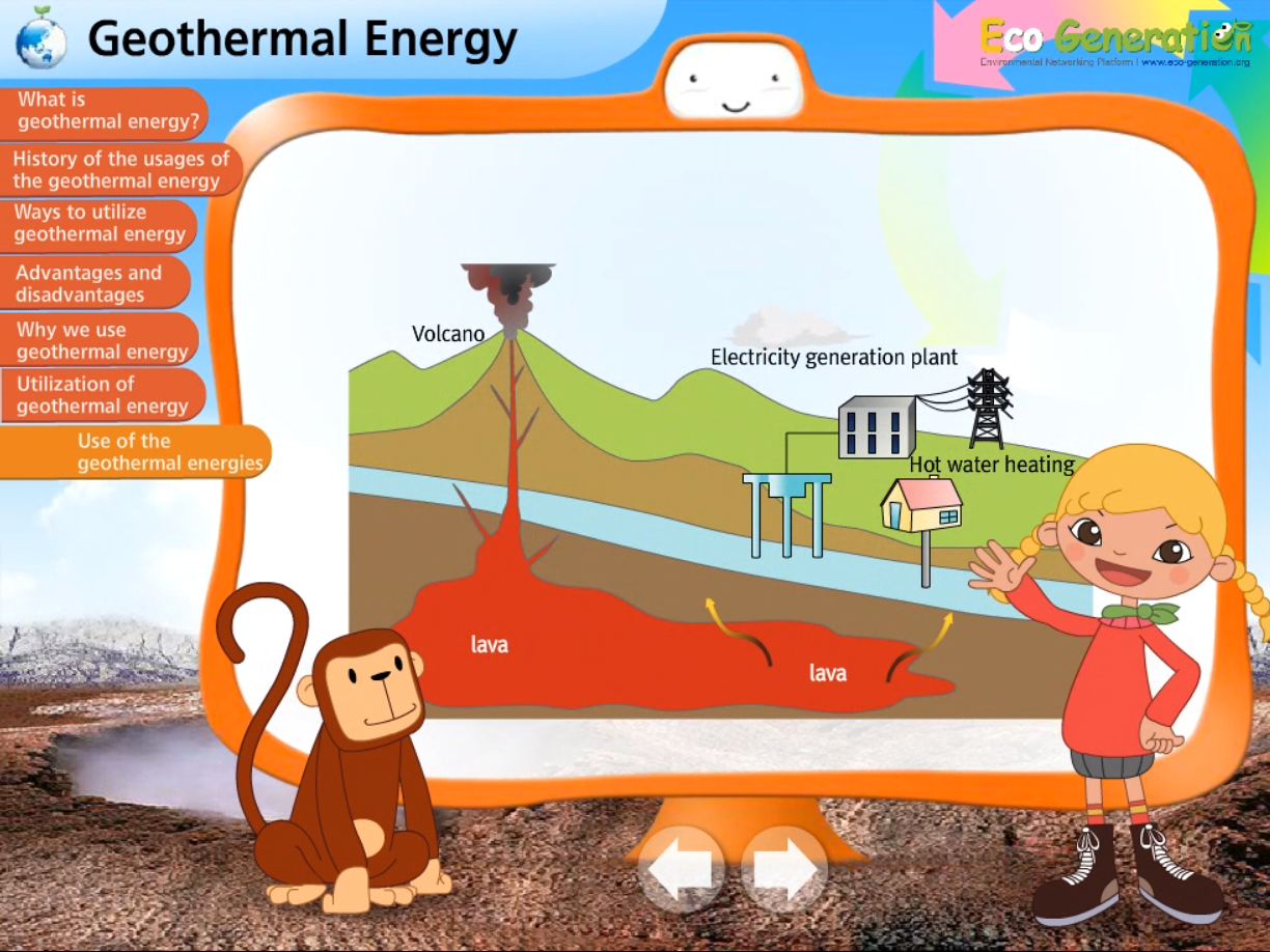 Use of geothermal energy of the world
