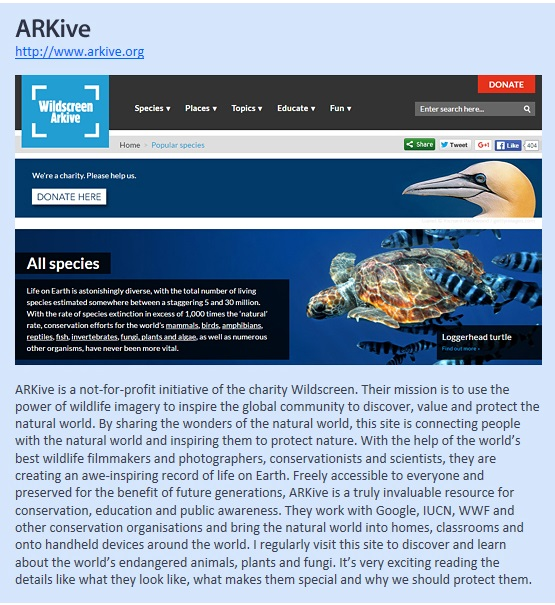 Our Favorite Environmental Websites_ARKive