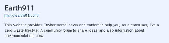 This website provides Environmental news and content to help you, as a consumer, live a zero waste lifestyle. A community forum to share ideas and also information about environmental causes.