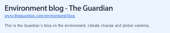 This is the Guardian blog on the environment, climate change and global warming.