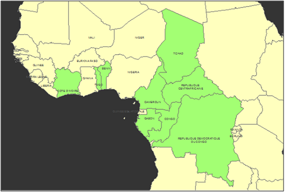 Congo Basin On Map Of Africa.Satellite Technologies In Africa The Future Of Effective Monitoring