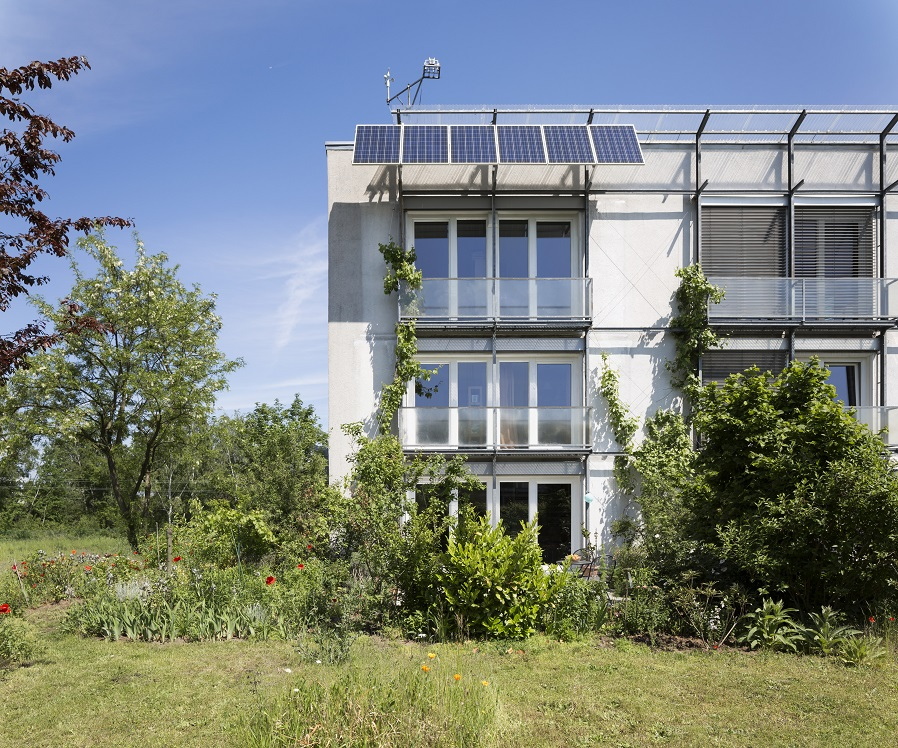 The first Passive House in Darmstadt, Germany (Photo credit to: Peter Cook)