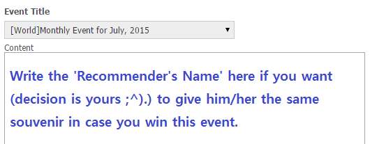 Write Recommenders Name