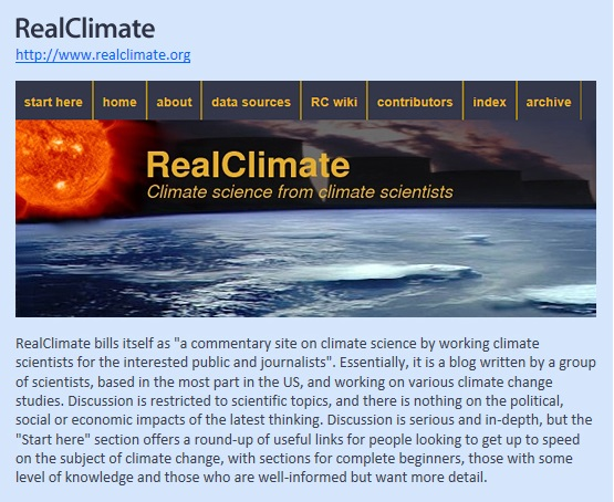 Website Recommendation_RealClimate