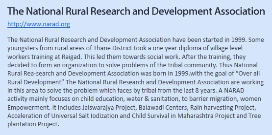 Website Recommendation_The National Rural Research and Development Assosiation
