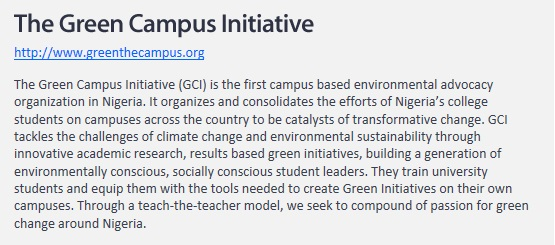 Website Recommendation_The Green Campus Initiative