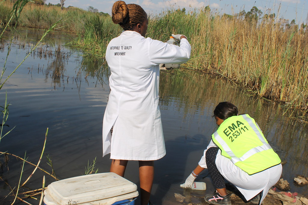 EMA officers collecting water samples