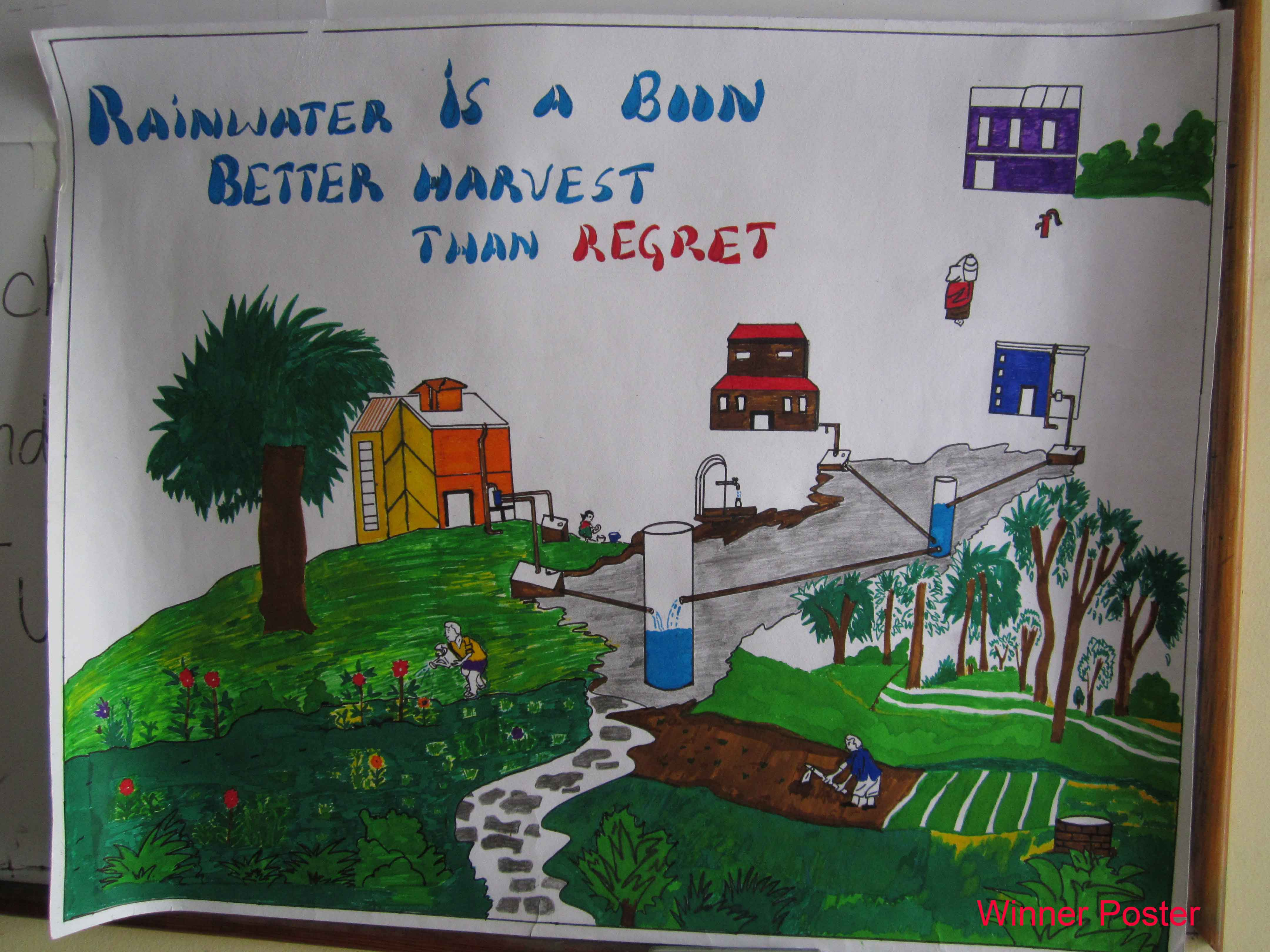 RAINWATER HARVESTING POSTER COMPETITION - Ambassador report - Our