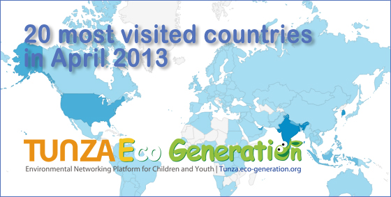 World most visited countries and cities in april notice about 20 most visited countries in april 2013 tunza eco generation environmental networking platform gumiabroncs Choice Image