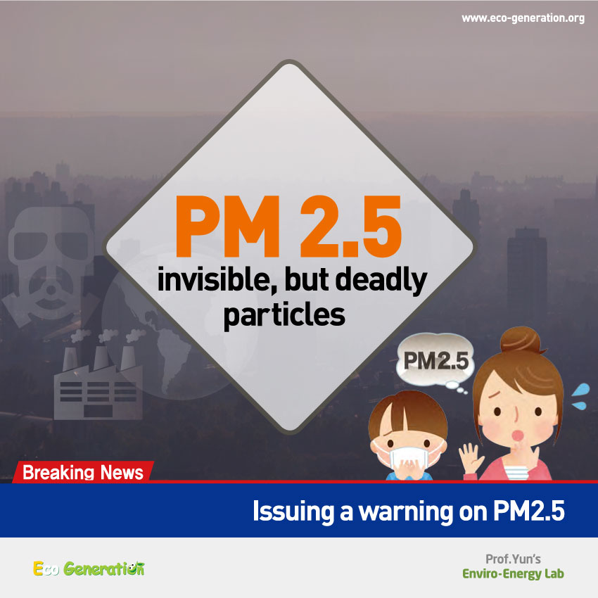PM 2.5 invisible but deadly particles - front page