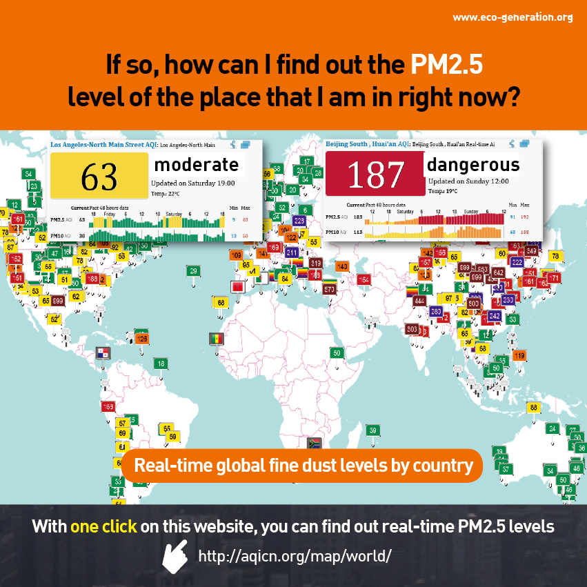 PM 2.5 invisible but deadly particles - if so how can i find out the PM2.5 level of the place that I am in right now?