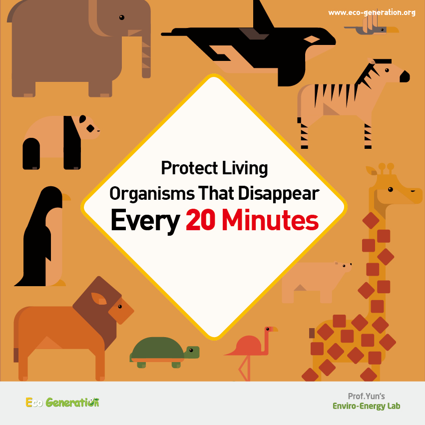 Protect living organisms that disappear every 20 minutes