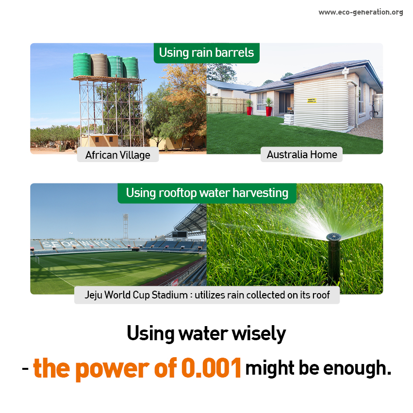 Using water wisely - the power of 0.001 might be enough