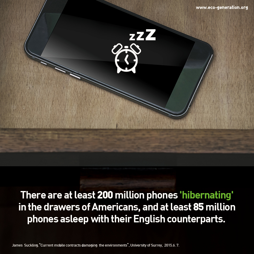 There are at least 200 million phones 'hibernating' in the drawers of Americas, and at least 85 million phones asleep with their English counterparts.