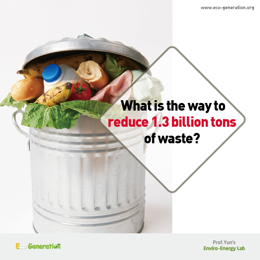 What is the way to reduce 1.3 billion tons of waste?