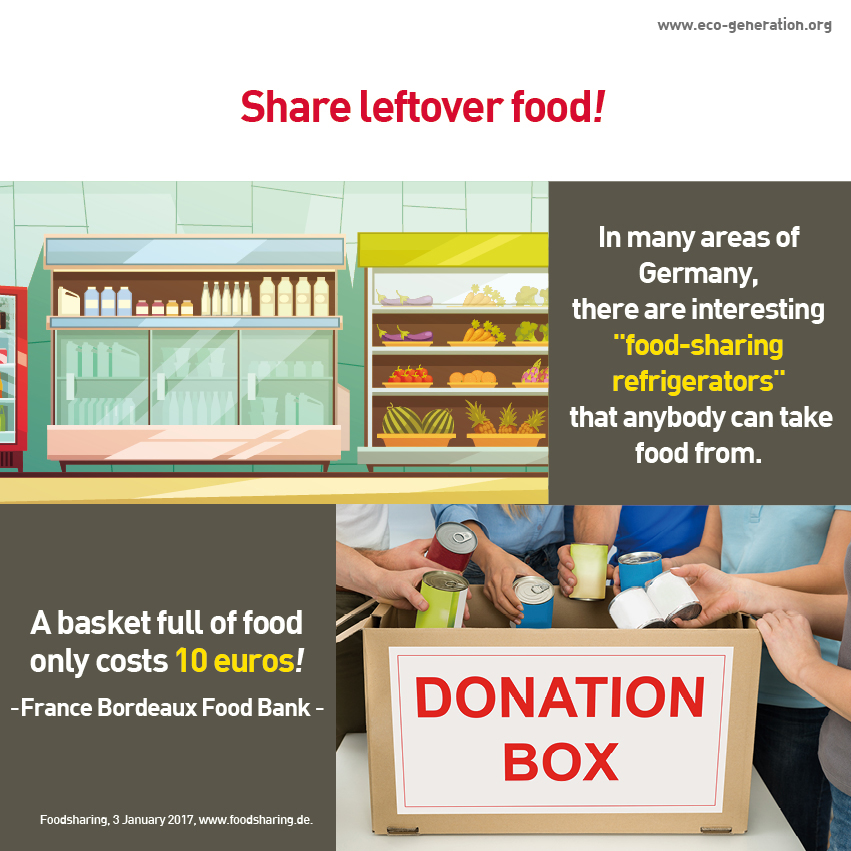 Share left over food! In many areas of Germany, there are interesting