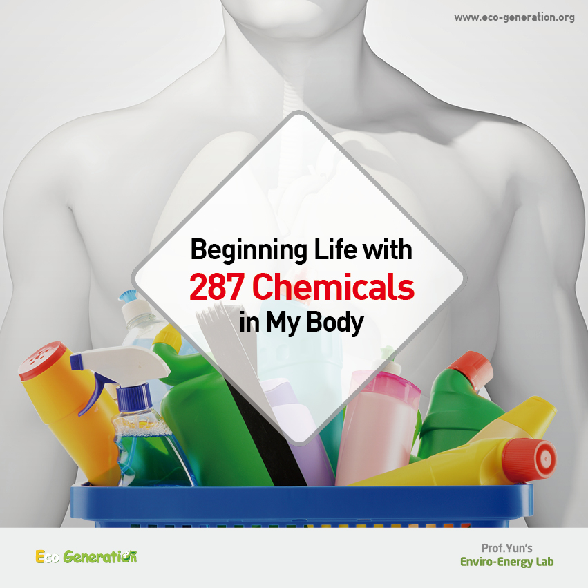Beginning life with 287 chemicals in my body