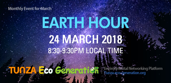Earth Hour 2018 wiht Eco-generation
