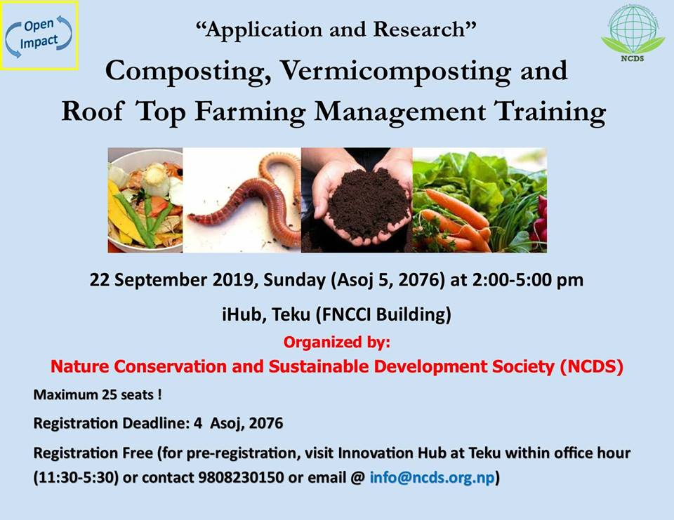 Training on Vermicompost and Roof-Top Farming
