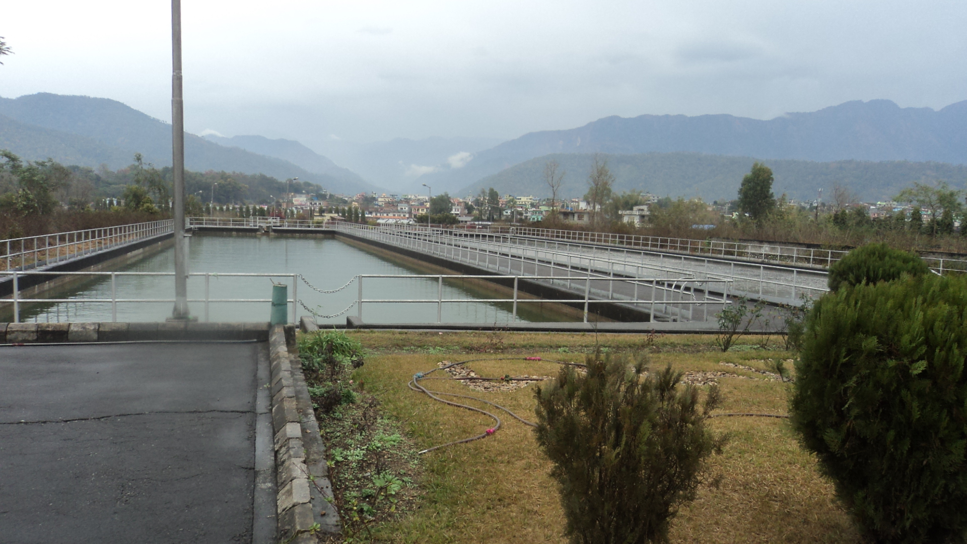 A visit to wastewater treatment plant hetauda world for Design of oxidation pond numerical